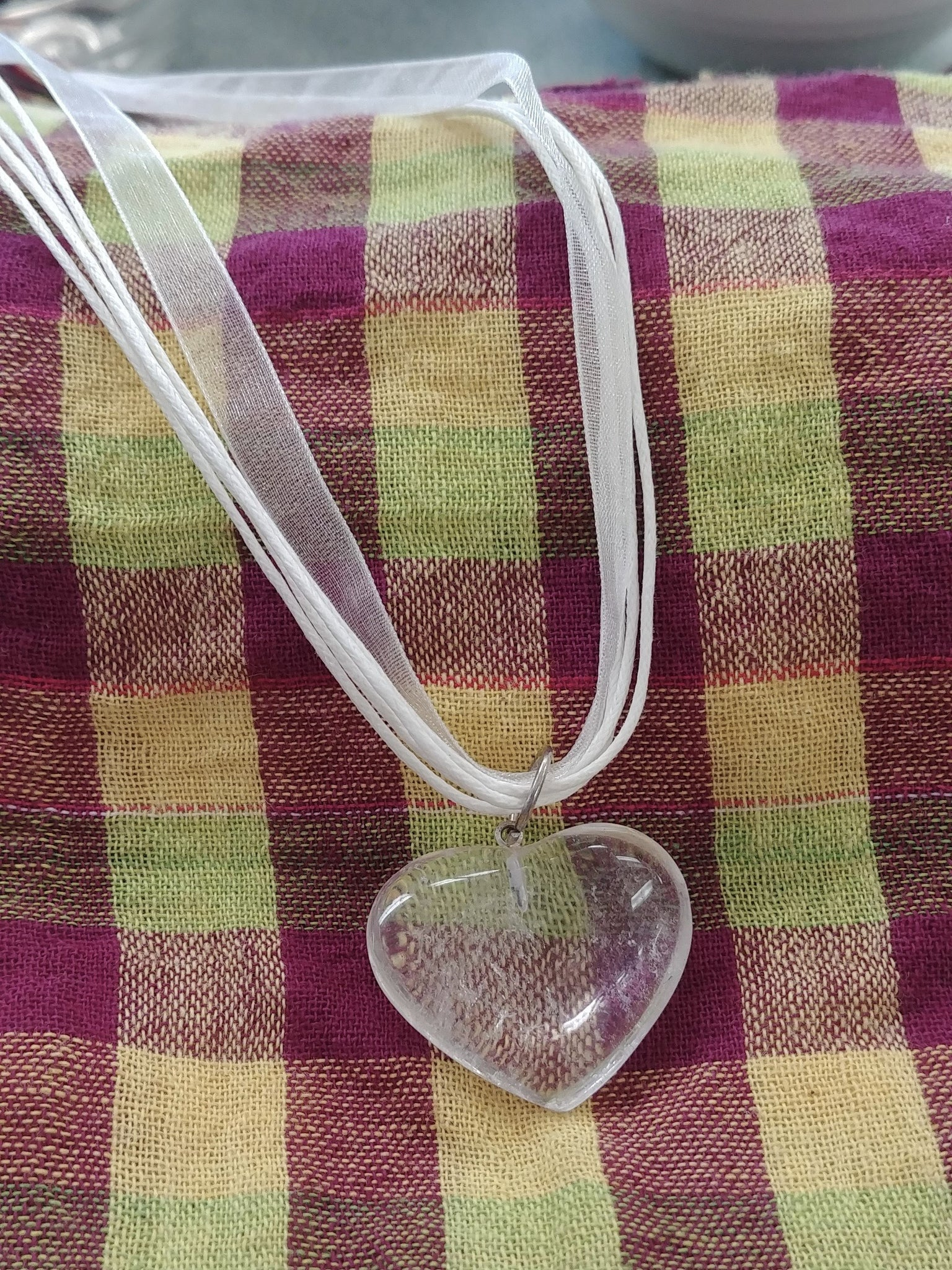 Quartz Heart Necklace