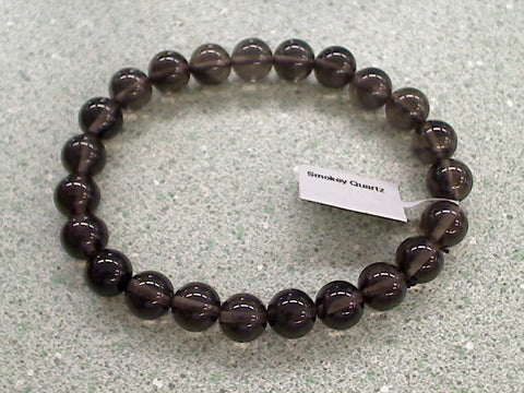 Smokey Quartz 8mm Stretch Bracelet