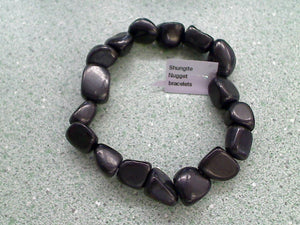 Shungite Nuggets Stretch Bracelet