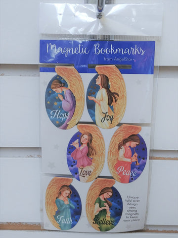 Religious Angel Themed Magnetic Bookmarks Set