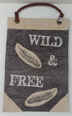 "Wild And Free Wall Hanging 18"" x 12"""