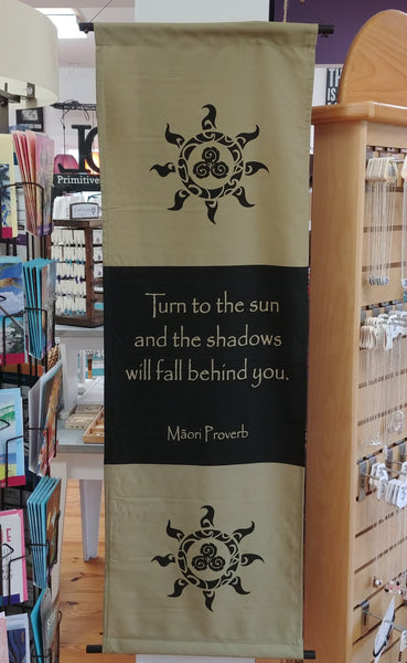 "Turn To The Sun Scroll Banner 47"" x 15"""
