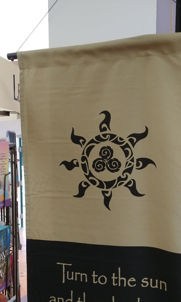 Turn To The Sun Scroll Banner 47'' x 15''