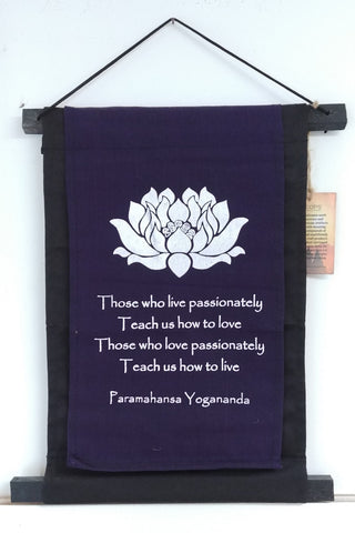 "Yogananda Quote Scroll Banner 15"" x 10"""