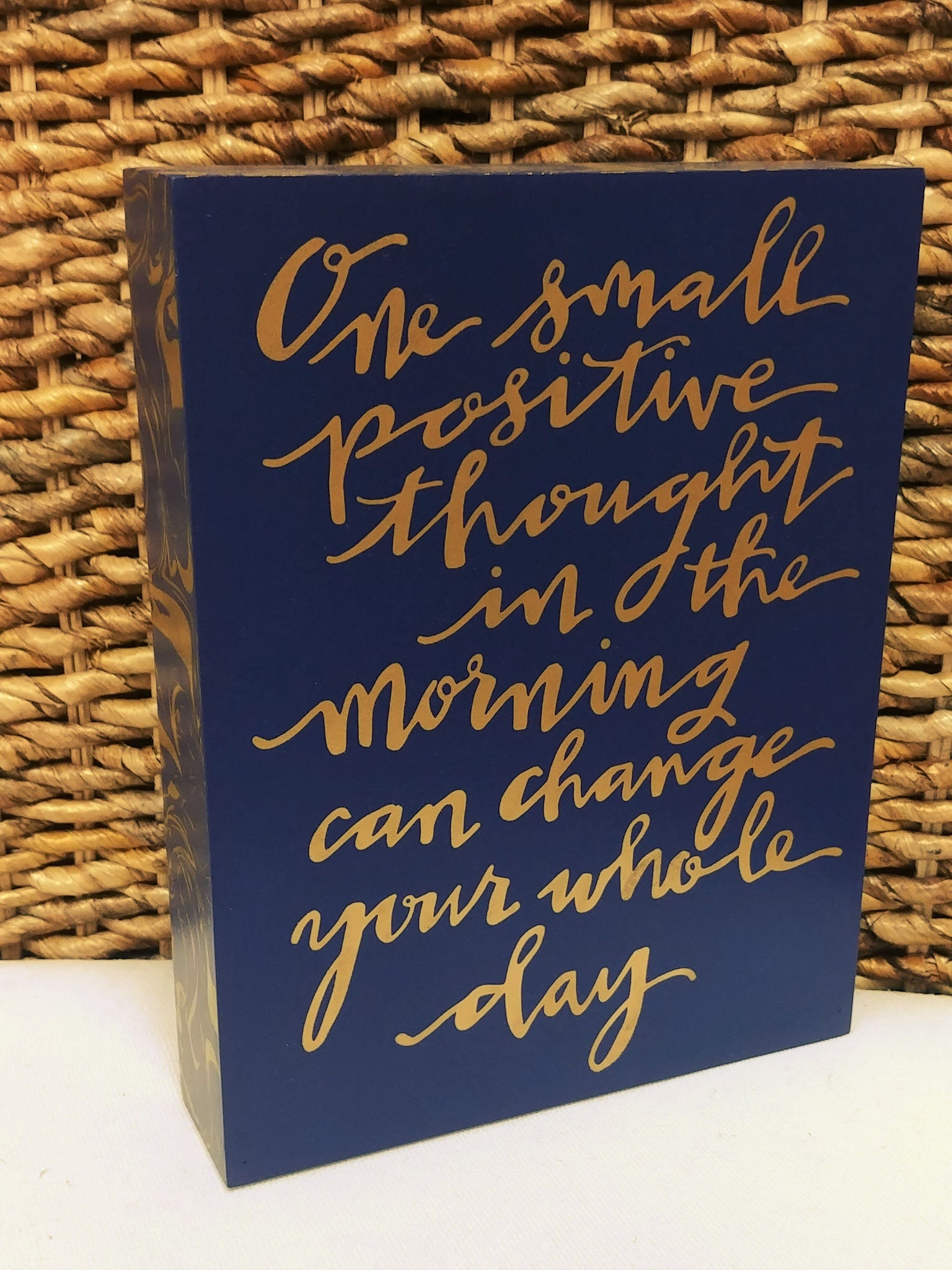 """Positive Thought"" Box Sign 9"" x 7"""