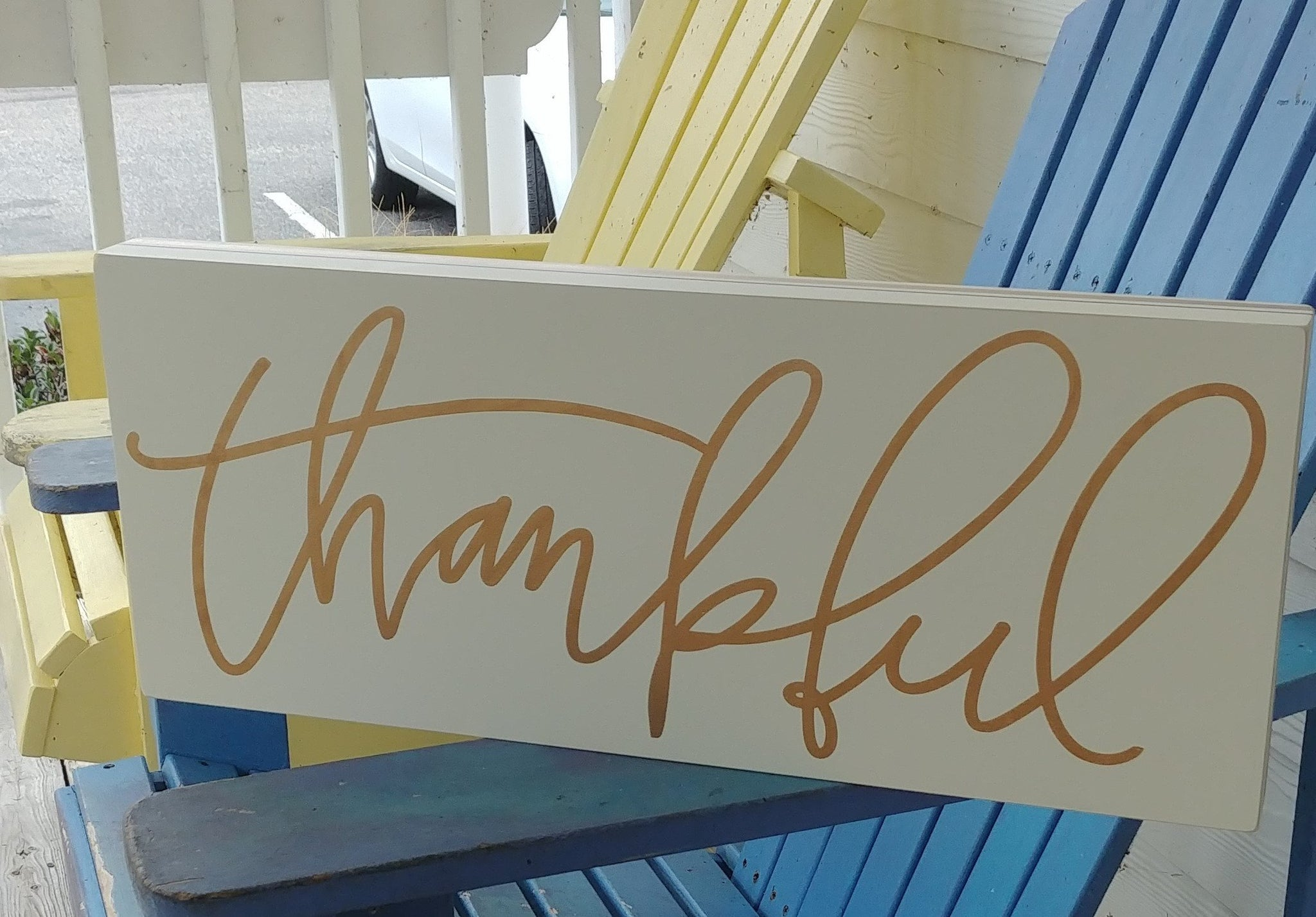 """Thankful"" Box Sign 9"" x 22"""