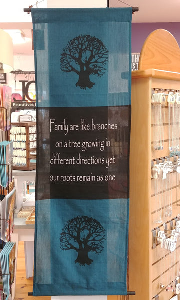 "Tree Of Life Family Roots Scroll Banner 47"" x 15"""