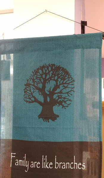 Tree Of Life Family Roots Scroll Banner 47'' x 15''