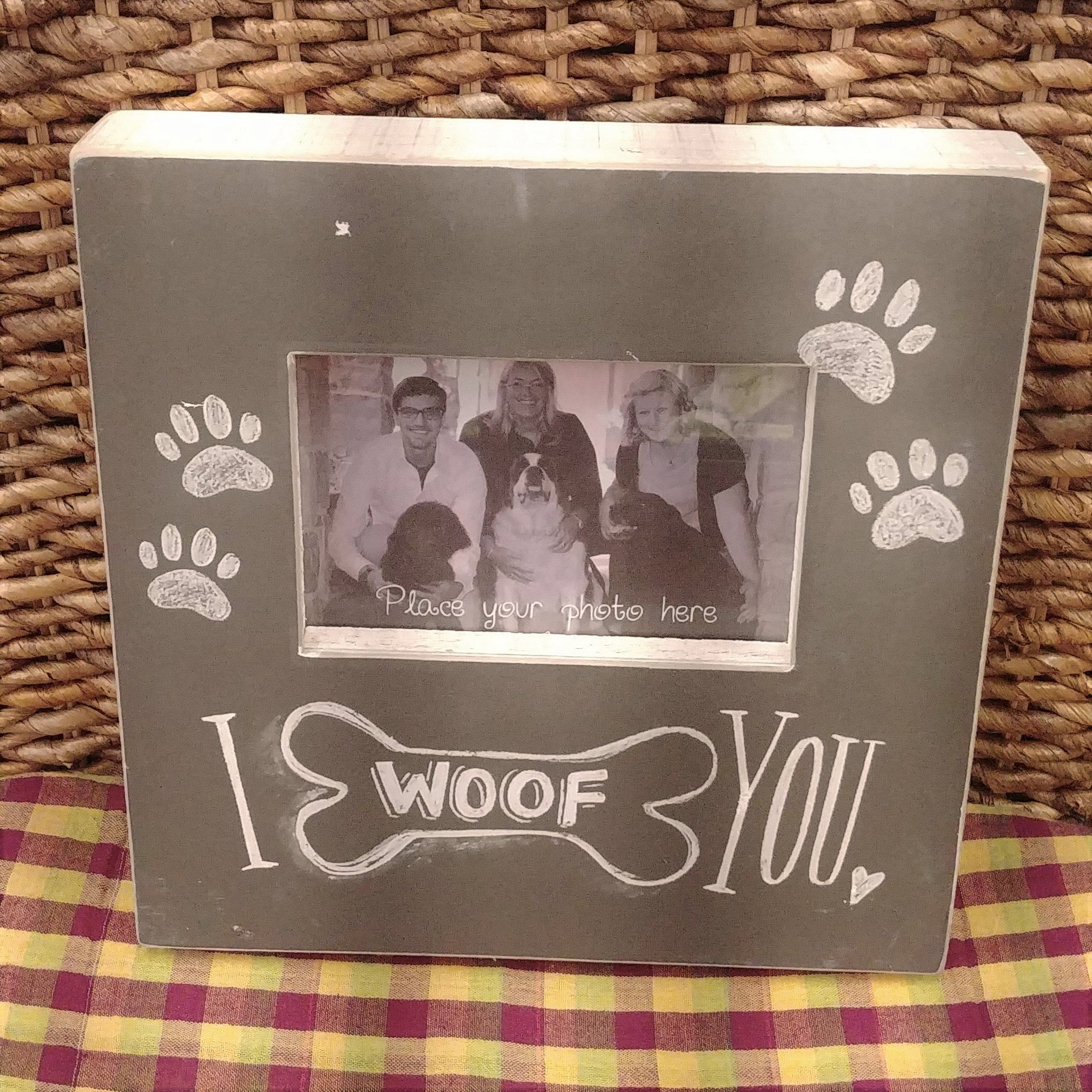 """I Woof You"" Picture Frame"