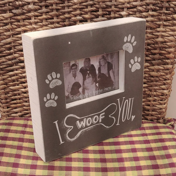''I Woof You'' Picture Frame