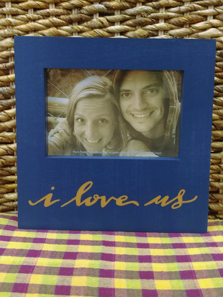 ''I Love Us'' Picture Frame