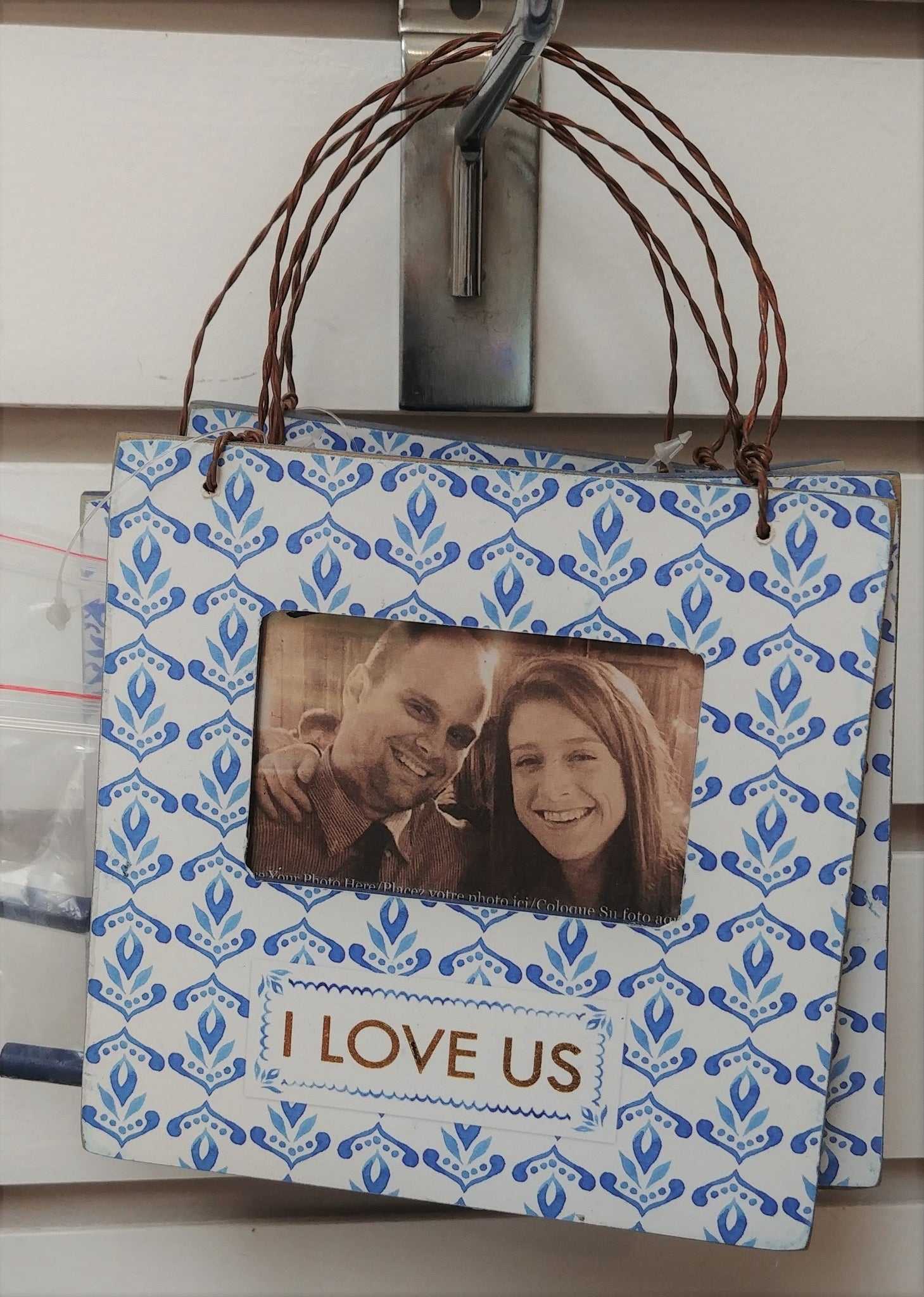 """I Love Us"" Hanging Picture Frame"