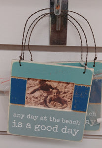 """Any Day At The Beach"" Hanging Picture Frame"