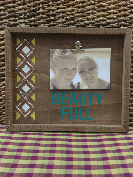 ''Beauty Full'' Wood Picture Frame