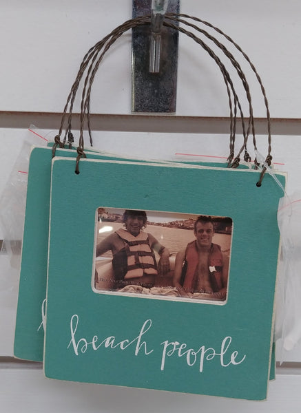 """Beach People"" Hanging Picture Frame"