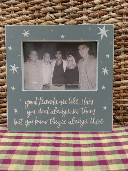 ''Good Friends Are Like Stars'' Picture Frame