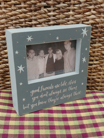 """Good Friends Are Like Stars"" Picture Frame"