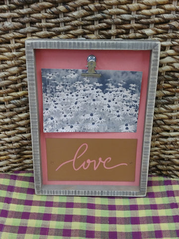 """Love"" Clip On Picture Frame"