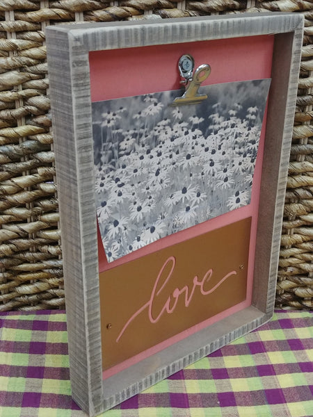 ''Love'' Clip On Picture Frame