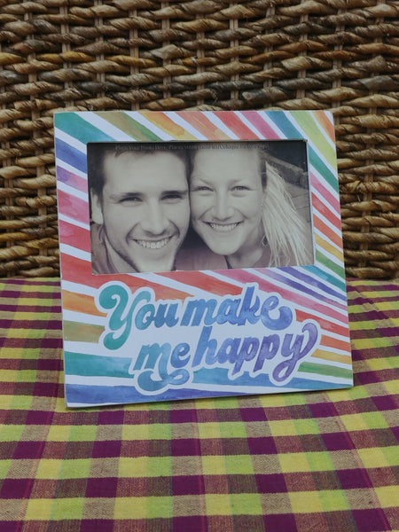 """You Make Me Happy"" Picture Frame"