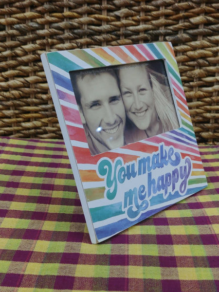 ''You Make Me Happy'' Picture Frame