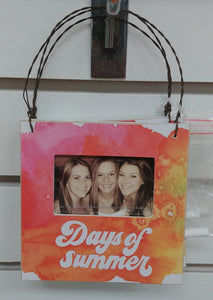 """Days Of Summer"" Hanging Picture Frame"