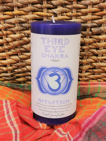 Third Eye Chakra Large Candle
