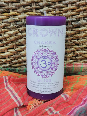 Crown Chakra Large Candle