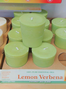 Lemon Verbena Scented Votive Candle