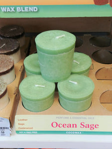 Ocean Sage Scented Votive Candle