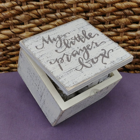 """My Little Prayer Box"" Small Wood Box"
