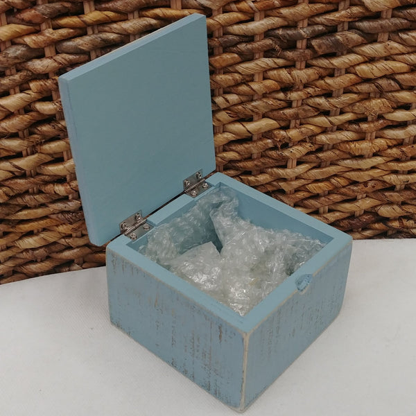 ''Sea Glass'' Small Wood Box