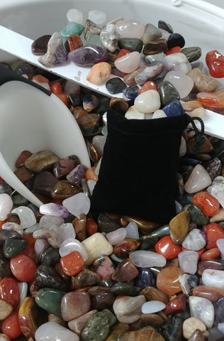 Tumbles Stones - Small Bag, Approx. 10 oz