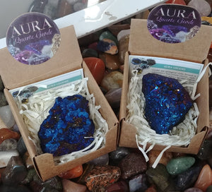 Aura Geode In Box, Blue-Purple