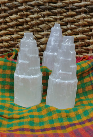 "Selenite 4"" Gemstone Iceberg Tower"