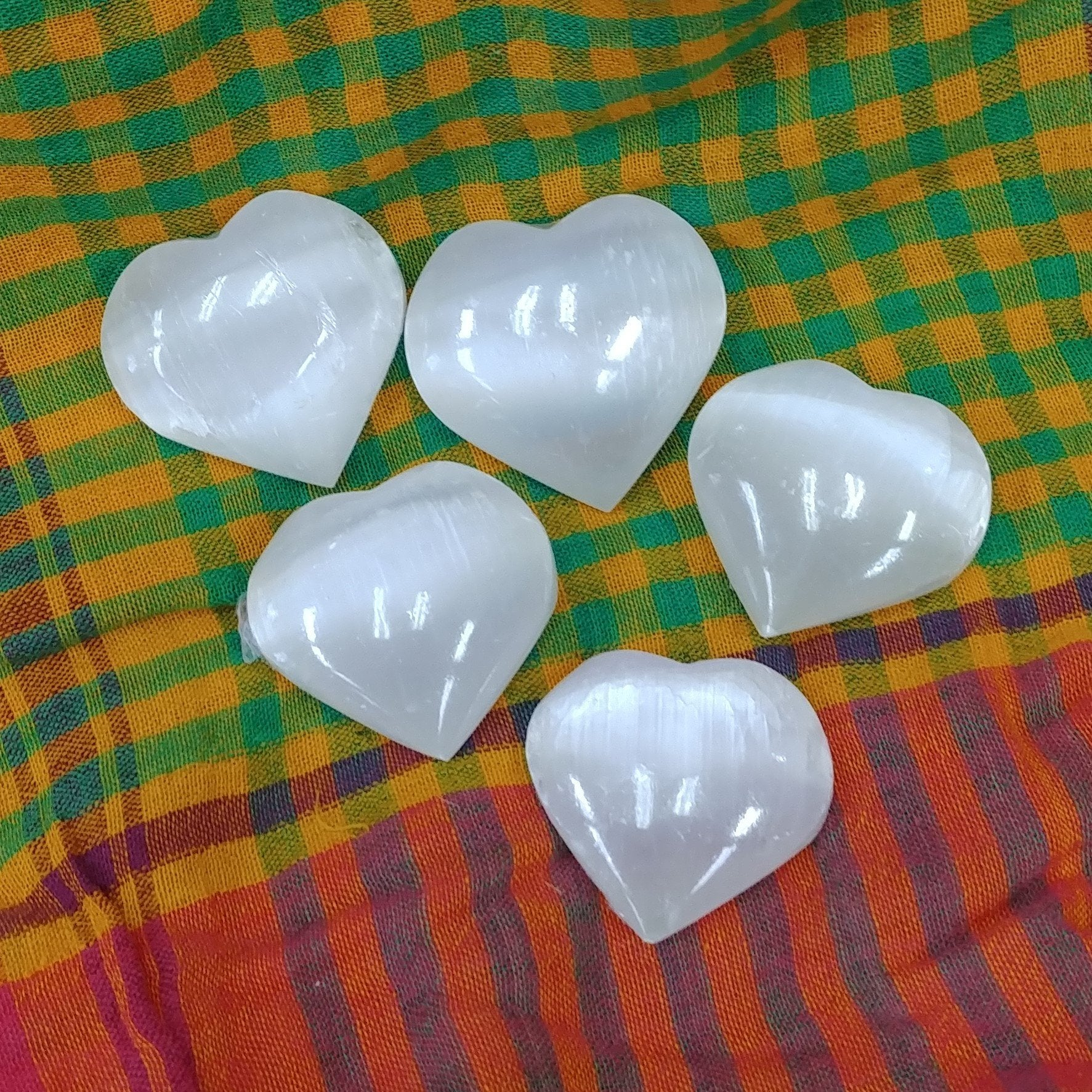 White Selenite Small Gemstone Heart