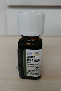 Organic Holy Basil Tulsi .25oz Pure Essential Oil