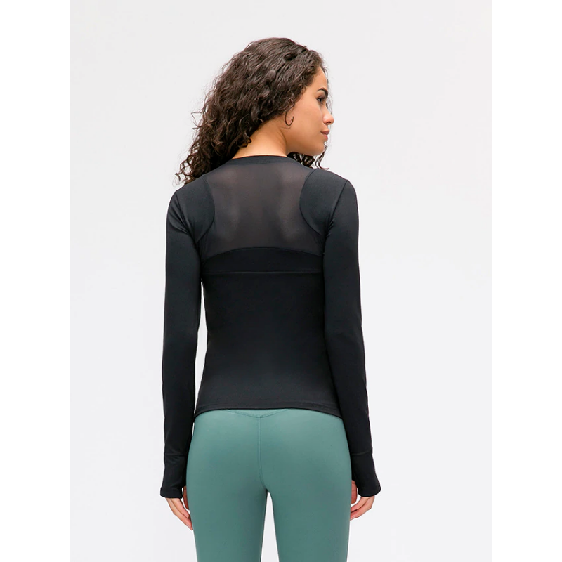 Fashion Forward 21 - Seamless Long Sleeve Top - Black