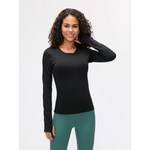 Seamless Long Sleeve Top - Black