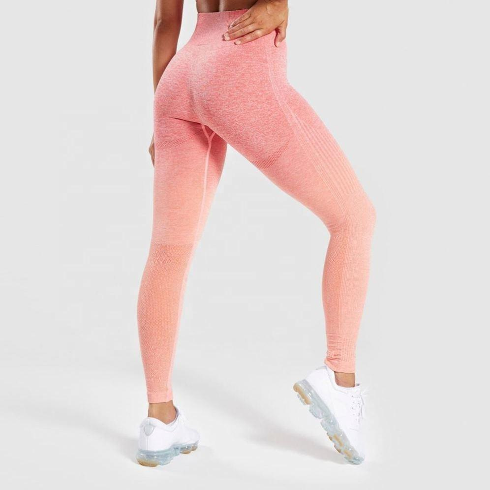 Ombre Hollow Leggings - Pink
