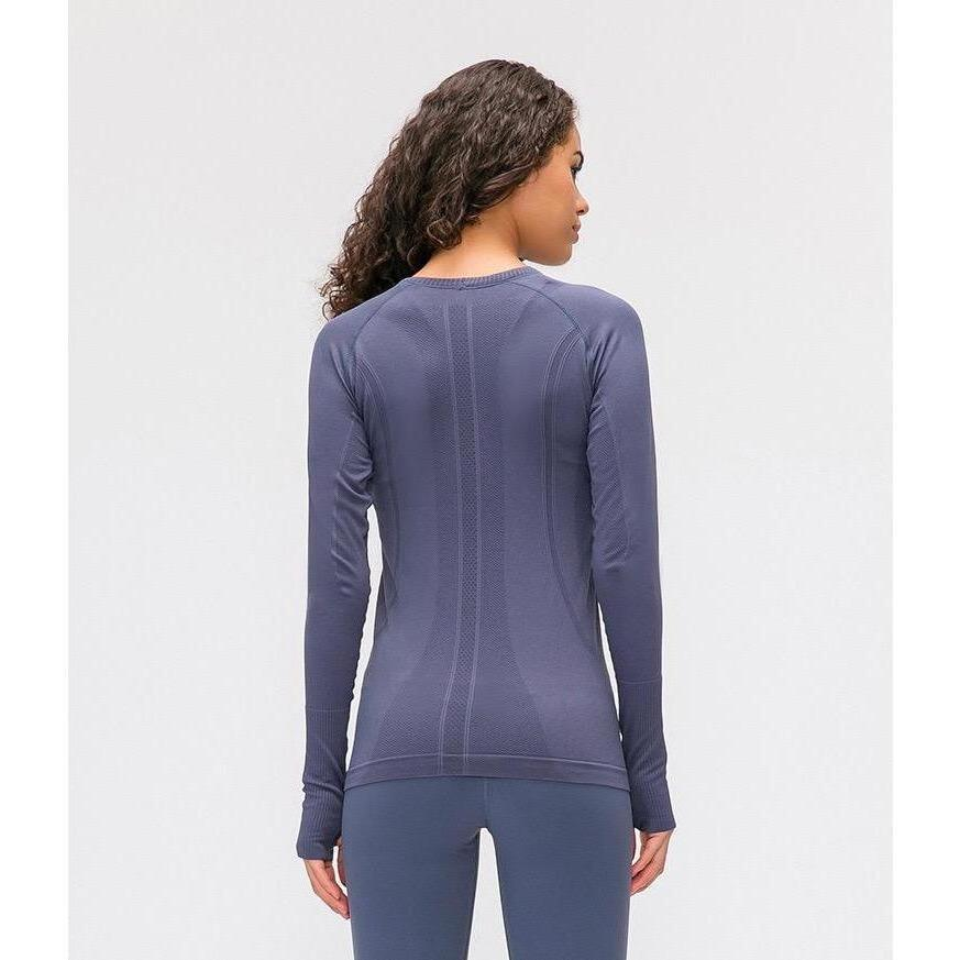 Load image into Gallery viewer, Seamless Long Sleeve Top - Purple