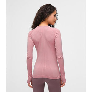 Seamless Long Sleeve Top - Pink