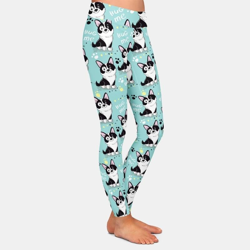 Hug me dog Leggings - Light Blue