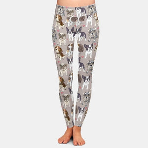 Cute Pups assorted Dog Leggings - Grey