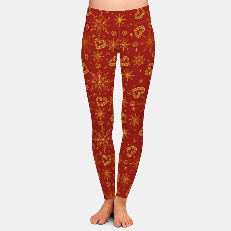 Christmas heart shaped candy canes Leggings