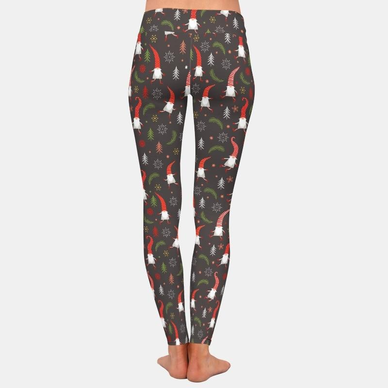 Christmas Gnomes Leggings - Black