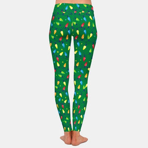 Load image into Gallery viewer, Christmas Light Leggings - Green
