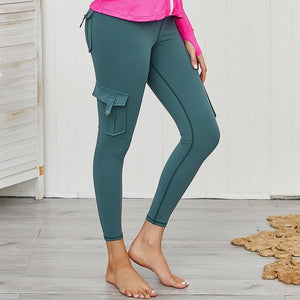 Load image into Gallery viewer, Tatum Cargo Pocket Push up Leggings - Green
