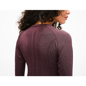 Seamless Long Sleeve Top - Chestnut Red