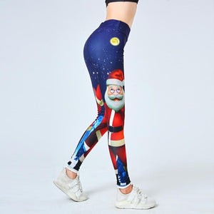 Load image into Gallery viewer, Christmas Santa Claus leggings